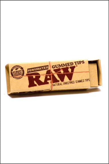 Filter - Raw Unbleached Perforated Gummed Tips Box