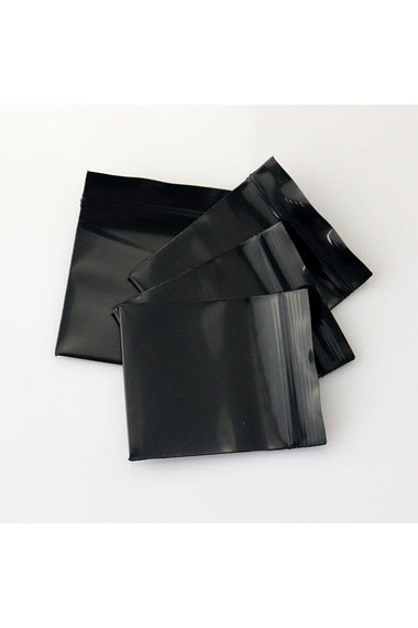 Zip Lock Bags Black Tint 100pk