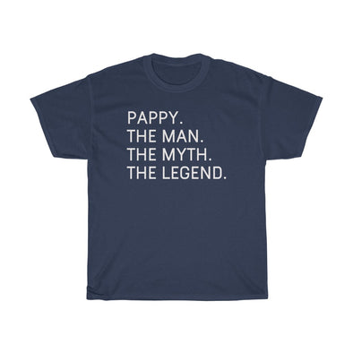 "Best Pappy Gifts ""Pappy The Man The Myth The Legend"" T-Shirt Funny Gift Idea for Pappy Grandpa Mens Tee"
