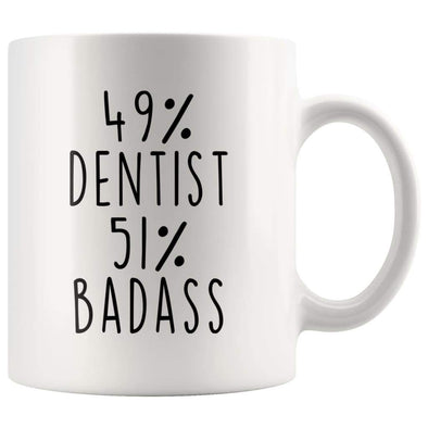 49% Dentist 51% Badass Coffee Mug - BackyardPeaks