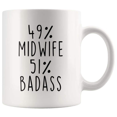 49% Midwife 51% Badass Coffee Mug - BackyardPeaks