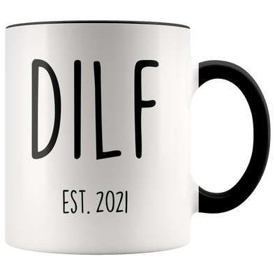 New Dad Gift Est 2021 Mug Expecting Father Pregnancy Announcement To Husband First Fathers Day DILF Coffee Mug Tea Cup