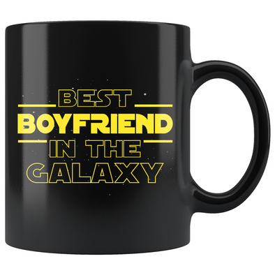 Best Boyfriend In The Galaxy Coffee Mug Black 11oz Gifts for Boyfriend $19.99 | 11oz - Black Drinkware
