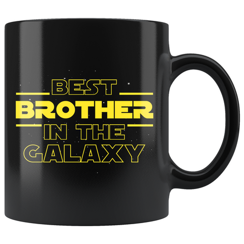 Best Brother In The Galaxy Coffee Mug Black 11oz Gifts for Brother $19.99 | 11oz - Black Drinkware