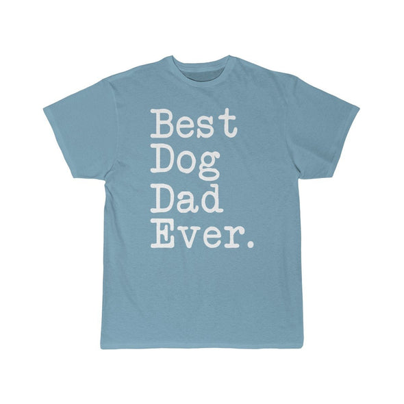 Best Dog Dad Ever T-Shirt Fathers Day Gift for Dog Dad Tee Dog Lover Gifts Men Pet Owner Dog Gift Christmas Gift Unisex Shirt $19.99 | Sky