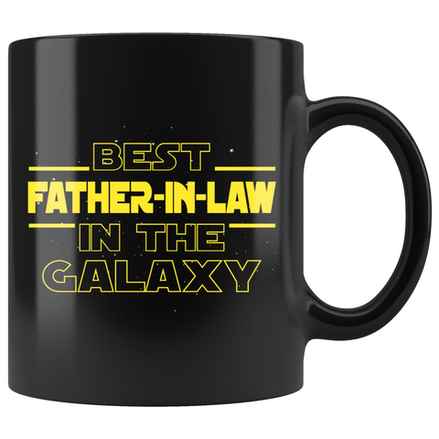 Best Father-In-Law In The Galaxy Coffee Mug Black 11oz Gifts for Father In Law $19.99 | 11oz - Black Drinkware