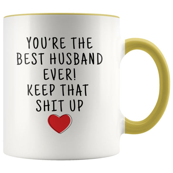 Best Gifts for Husband: Best Husband Ever! Mug | Funny Husband Gifts $19.99 | Yellow Drinkware