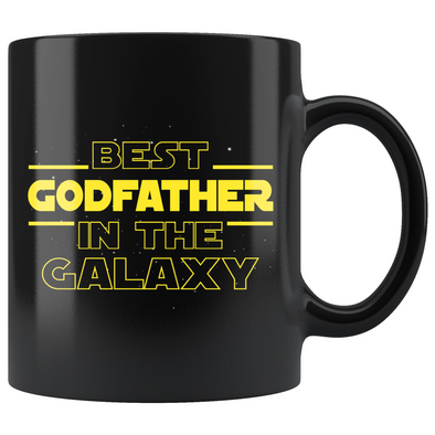 Best Godfather In The Galaxy Coffee Mug Black 11oz Gifts for Godfather $19.99 | 11oz - Black Drinkware