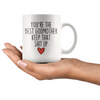 Best Godmother Gifts Funny Godmother Gifts You're The Best Godmother Keep That Shit Up Coffee Mug 11 oz or 15 oz White Tea Cup