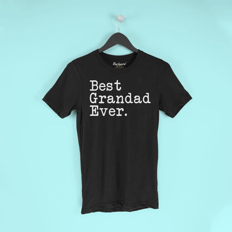 Best Grandad Ever T-Shirt Fathers Day Gift for Grandad Tee Birthday Gift Grandad Christmas Gift New Grandad Gift Unisex Shirt $19.99 |