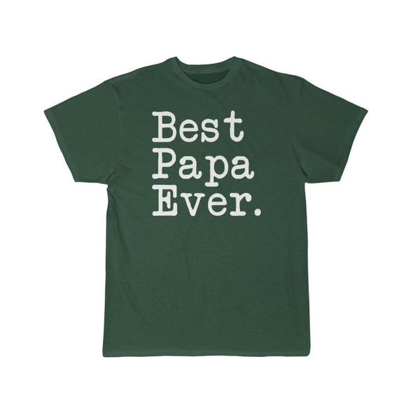 Best Papa Ever T-Shirt Fathers Day Gift for Dad Tee Birthday Gift Christmas Gift New Papa Gift Unisex Shirt $19.99 | Forest / S T-Shirt