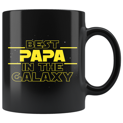 Best Papa In The Galaxy Coffee Mug Black 11oz Gifts for Papa $19.99 | 11oz - Black Drinkware