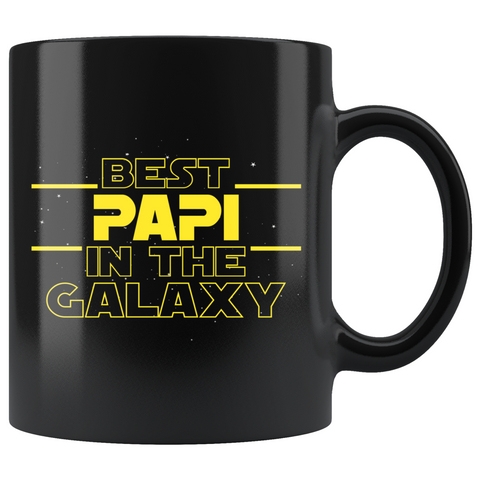 Best Papi In The Galaxy Coffee Mug Black 11oz Gifts for Papi $19.99 | 11oz - Black Drinkware
