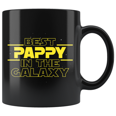 Best Pappy In The Galaxy Coffee Mug Black 11oz Gifts for Pappy $19.99 | 11oz - Black Drinkware