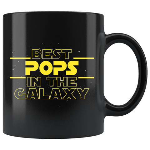 Best Pops In The Galaxy Coffee Mug Black 11oz Gifts for Pops $19.99 | 11oz - Black Drinkware