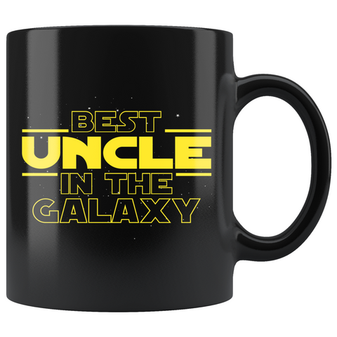 Best Uncle In The Galaxy Coffee Mug Black 11oz Gifts for Uncle $19.99 | 11oz - Black Drinkware
