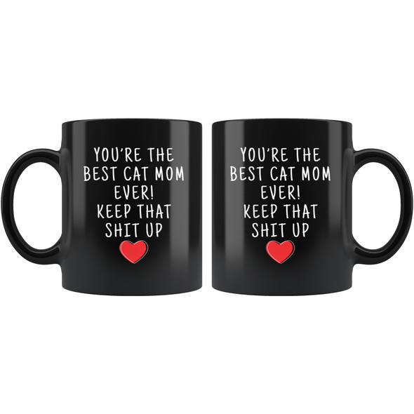 Cat Lover Gifts Women Best Cat Mom Ever Mug Cat Mom Coffee Mug Cat Mom Coffee Cup Cat Mom Gift Coffee Mug Tea Cup Black $19.99 | Drinkware