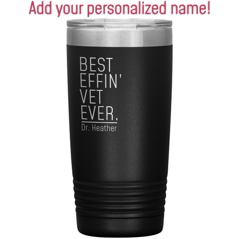 Customized Name Personalized Unique Gifts for Veterinarian Insulated 20oz Tumbler $33.99 | Tumblers
