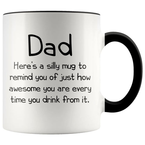 Dad Gifts Dad To Remind You Best Fathers Day Gifts for Dad Gift from Daughter or Son Fun Novelty Coffee Mug $14.99 | Black Drinkware