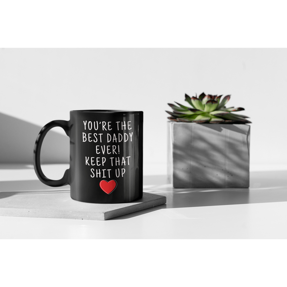 Daddy Gifts Best Daddy Ever Mug Daddy Coffee Mug Daddy Coffee Cup Daddy Gift Coffee Mug Tea Cup Black $19.99 | Drinkware