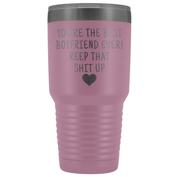 Funny Boyfriend Gift: Best Boyfriend Ever! Large Insulated Tumbler 30oz $38.95 | Light Purple Tumblers