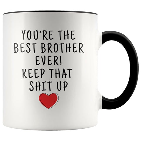 Funny Brother Gifts: Personalized Best Brother Ever! Mug | Gifts for Brother $19.99 | Black Drinkware
