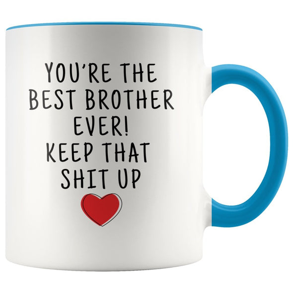 Funny Brother Gifts: Personalized Best Brother Ever! Mug | Gifts for Brother $19.99 | Blue Drinkware