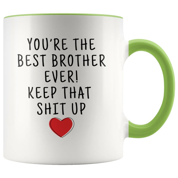 Funny Brother Gifts: Personalized Best Brother Ever! Mug | Gifts for Brother $19.99 | Green Drinkware