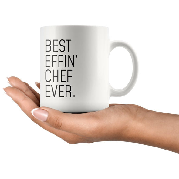 Funny Chef Gift: Best Effin Chef Ever. Coffee Mug 11oz $19.99 | Drinkware