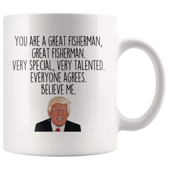 Fisherman Coffee Mug | Funny Trump Gift for Fisherman $14.99 | Funny Fisherman Mug Drinkware