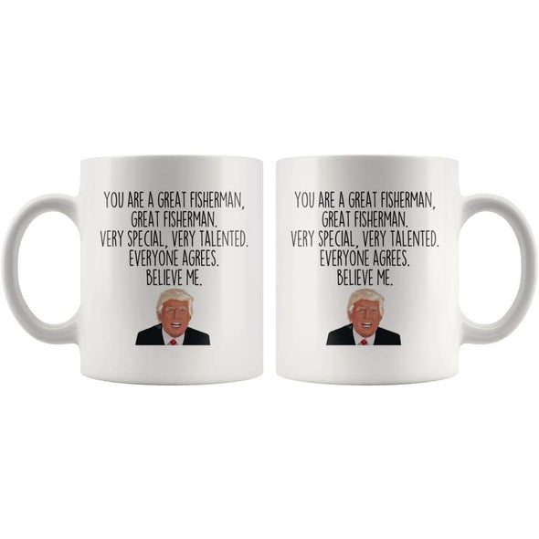 Fisherman Coffee Mug | Funny Trump Gift for Fisherman $14.99 | Drinkware