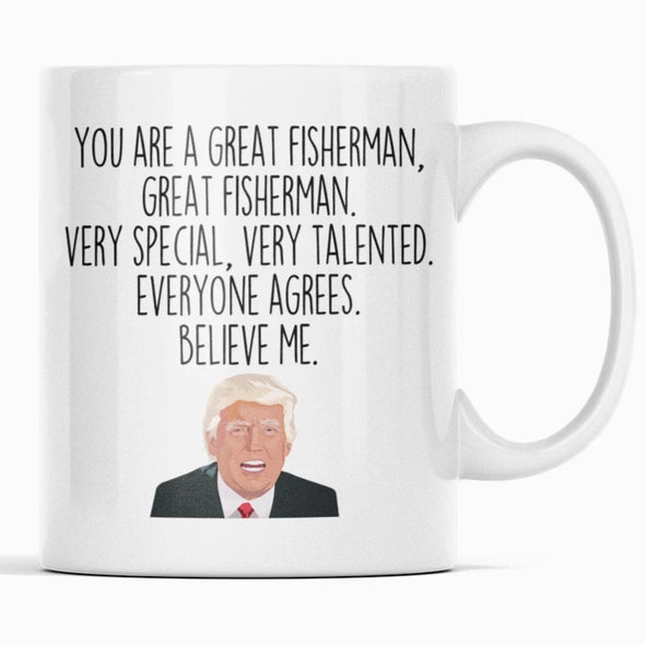 Funny Fisherman Gift: Donald Trump Fisherman Mug | Gift for Fisherman $14.99 | Funny Fisherman Mug Drinkware