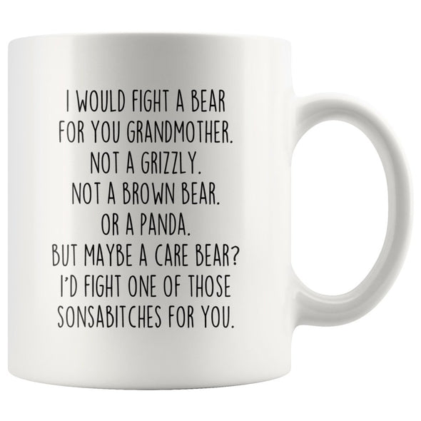 Funny Grandmother Gifts: I Would Fight A Bear For You Mug | Gifts for Grandmother $19.99 | 11 oz Drinkware