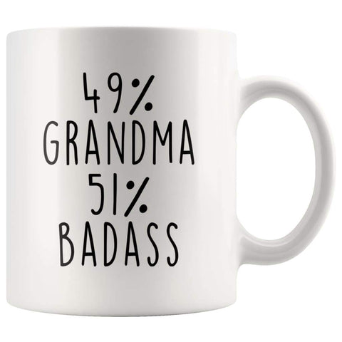 49% Grandma 51% Badass Coffee Mug - BackyardPeaks
