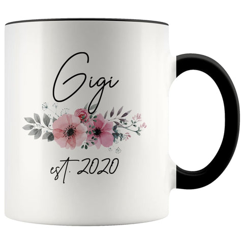 Gigi Est 2020 Pregnancy Announcement Gift to New Gigi Coffee Mug 11oz $14.99 | Black Drinkware
