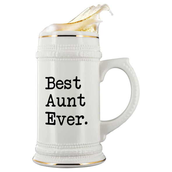 Great Aunt Gifts Best Aunt Ever Beer Stein Unique Wedding Gift for Aunt Gift Idea Aunt of the Bride Birthday Christmas Aunt Large 22oz Beer