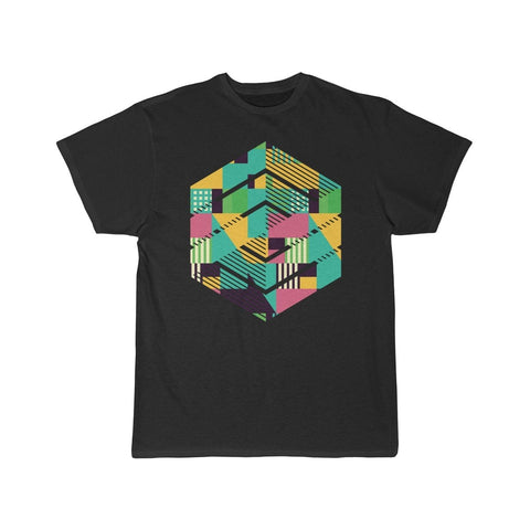 Modern Graphic Tee Geometric Shirt Abstract TShirt Graphic Tees Hipster Tee Geometric T Shirt Geometric Design T-Shirt $21.99 | Black / L