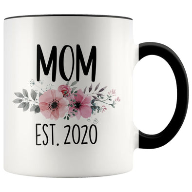 Mom Est 2020 New Mom Expecting Mother Coffee Mug Tea Cup 11 ounce $14.99 | Black Drinkware