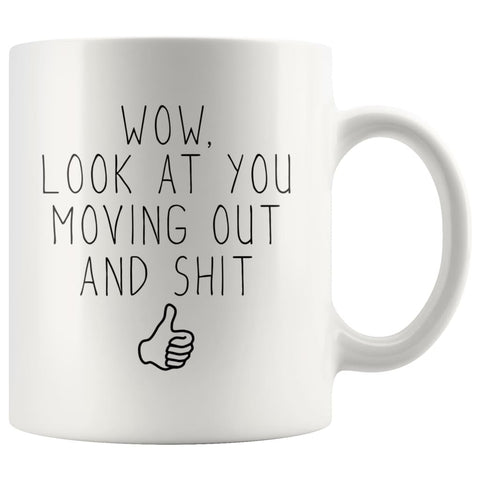 Moving Out At 18, First Time Renting, Moving Housewarming Gift Coffee Mug - BackyardPeaks