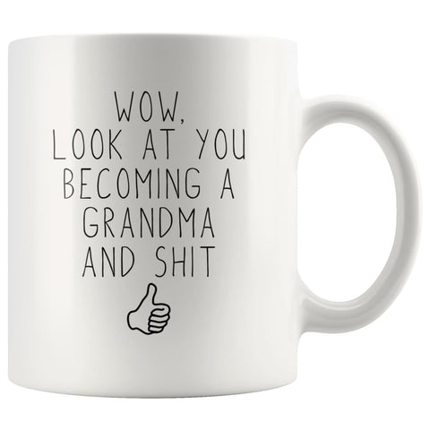 New Grandma Gift, Grandma To Be, Grandma Pregnancy Announcement Coffee Mug - BackyardPeaks