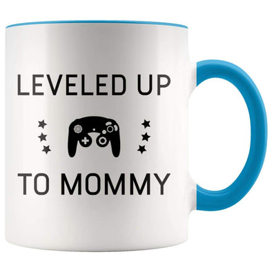 New Mom Gift, Leveled Up To Mommy, First Mothers Day Coffee Mug - BackyardPeaks