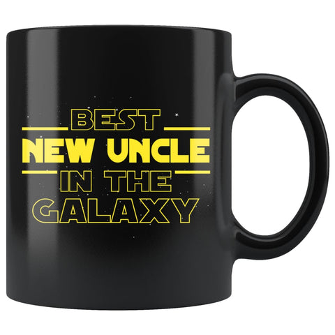 New Uncle Gift Pregnancy Announcement Uncle To Be Best New Uncle In The Galaxy Coffee Mug Tea Cup Black 11 ounce $16.99 | 11oz Drinkware