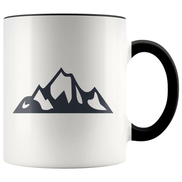 Outdoor Gift Women And Men - Mountains Coffee Mug - Black - Custom Made Drinkware