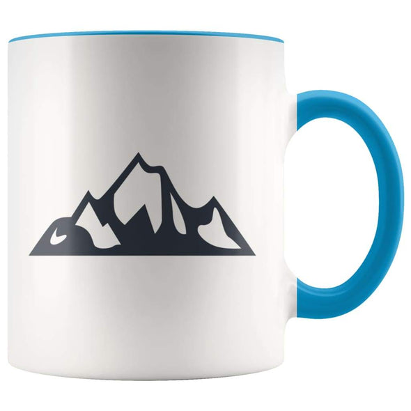 Outdoor Gift Women And Men - Mountains Coffee Mug - Blue - Custom Made Drinkware