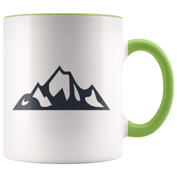 Outdoor Gift Women And Men - Mountains Coffee Mug - Green - Custom Made Drinkware