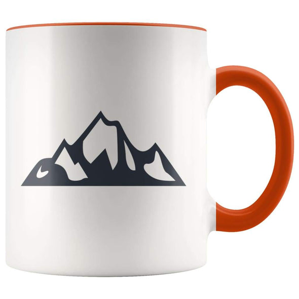 Outdoor Gift Women And Men - Mountains Coffee Mug - Orange - Custom Made Drinkware