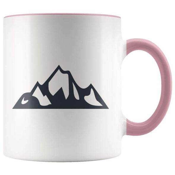 Outdoor Gift Women And Men - Mountains Coffee Mug - Pink - Custom Made Drinkware