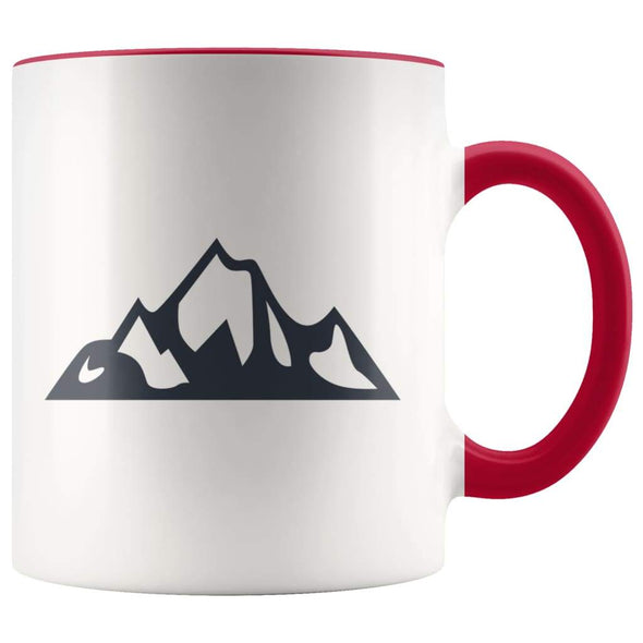 Outdoor Gift Women And Men - Mountains Coffee Mug - Red - Custom Made Drinkware