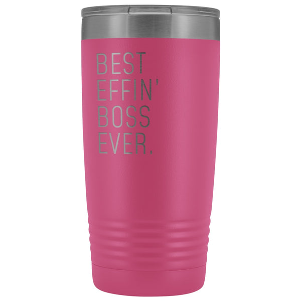 Personalized Boss Gift: Best Effin' Boss Ever. Insulated Tumbler 20oz