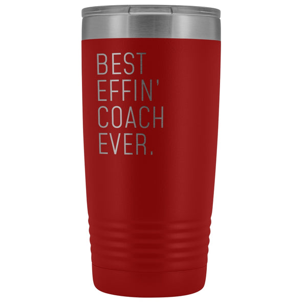 Personalized Coach Gift: Best Effin Coach Ever. Insulated Tumbler 20oz $29.99 | Red Tumblers